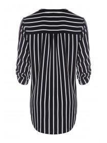 Maternity Monochrome Stripe Blouse
