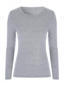 Womens Dark Grey Thermal Long Sleeve Vest