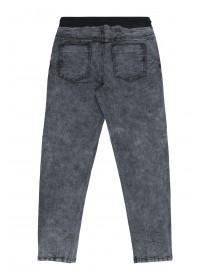 Older Boys Grey Denim Pull On Jeans