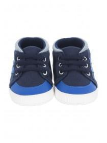 Baby Boys Blue High Top Trainers