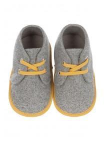 Baby Boys Grey Lace Shoes