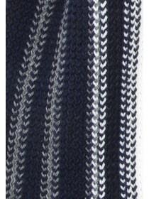 Mens Navy Stripe Scarf