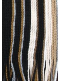 Mens Tan Stripe Scarf