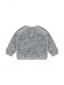 Baby Boys Grey Fox Fleece Sweater