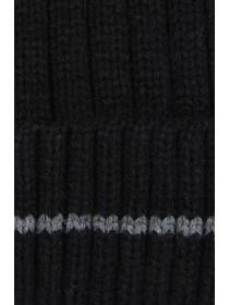 Mens Black Rib Beanie Hat