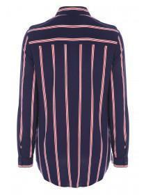 Womens Blue and Red Stripe Shirt