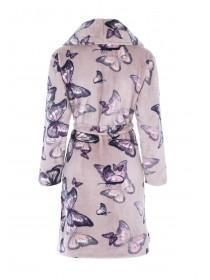 Womens Mocha Butterfly Dressing Gown
