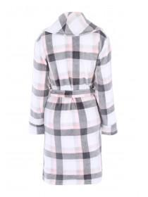 Womens Pink and Grey Check Dressing Gown