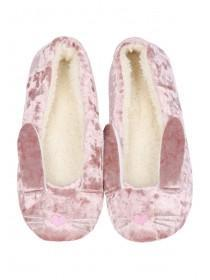 Womens Pink Bunny Ballet Slippers