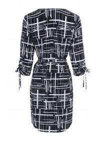 Womens Monochrome Tunic Dress