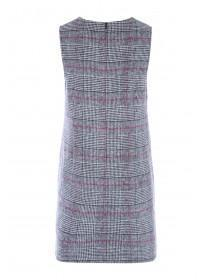 Womens Grey Check Brushed Dress
