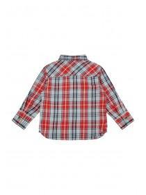 Younger Boys Red and Blue Check Shirt