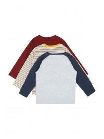 Younger Boys 3pk Long Sleeve T-Shirts