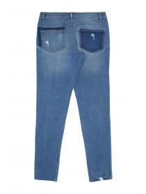 Older Girls Mid Blue Skinny Jeans