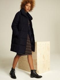 Womens Black Padded Duvet Coat