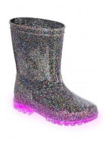 Younger Girls Glitter Light Up Wellies