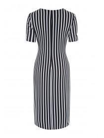 Womens Monochrome Stripe Twist Dress
