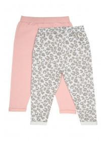 Younger Girls 2pk Leopard Print Joggers
