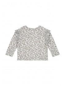 Younger Girls Grey Leopard Print Sweater