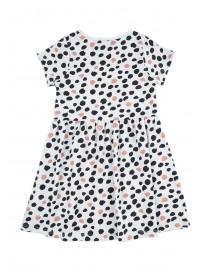 Younger Girls Grey Spot Dress