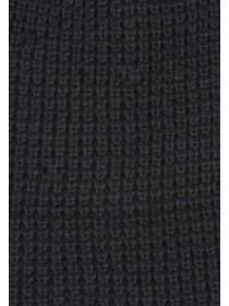 Mens Black Waffle Knit Hat