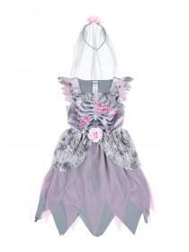 Kids Pale Pink Bride Fancy Dress Outfit