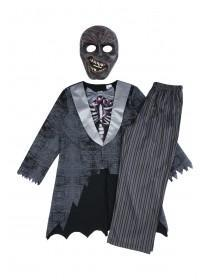 Kids Zombie Skeleton Fancy Dress Outfit