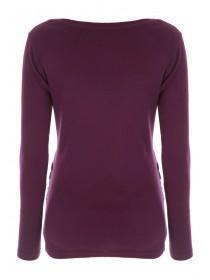 Maternity Burgundy Long Sleeve Top