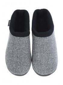 Mens Grey Thinsulate Mule Slippers