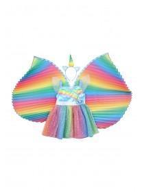 Kids Multicolour Unicorn Fairy Fancy Dress Outfit