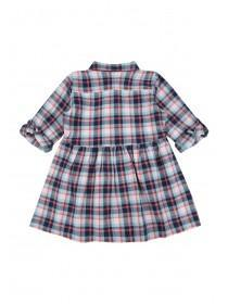 Younger Girls Blue and Red Check Dress