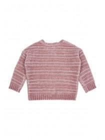 Younger Girls Pink Lurex Jumper