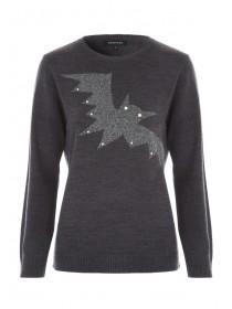 Womens Black Bat Jumper