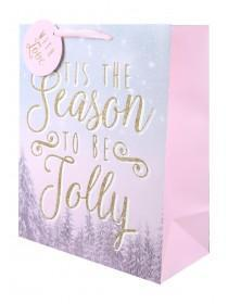 Large Christmas Slogan Gift Bag