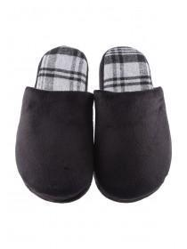 Mens Black Mule Slippers