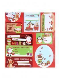 Christmas Foil Sticker Gift Tags