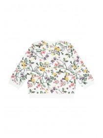 Baby Girls Cream Floral Sweater