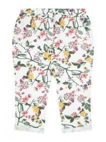 Baby Girls Cream Floral Joggers