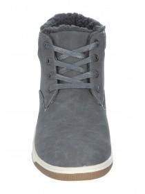 Mens Grey High Top Boots