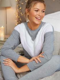 Womens Grey Lounge Pyjamas