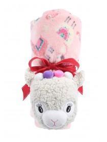 Pink Llama Novelty Blanket