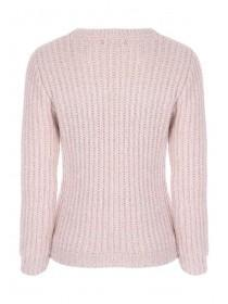 Womens Pink Metallic Jumper