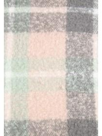 Womens Pastel Check Oversized Scarf