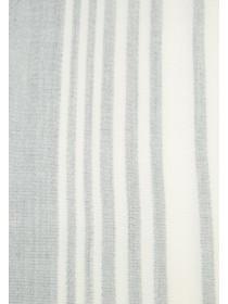Womens Grey Stripe Scarf