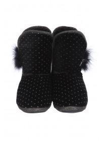 Womens Black Slipper Boots