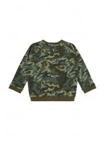 Baby Boys Green Camo Sweater