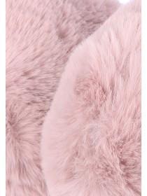 Womens Pink Lurex Earmuffs