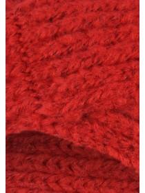 Womens Red Knitted Headband