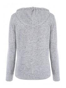 Womens Grey Zip Through Hoody