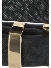 Womens Black Skinny Leather Belt
